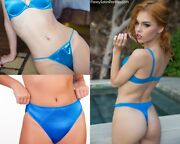 6 Try-it-on Set 2 Thongs 2 Bikinis 2 Hipsters 2 Colors Choose From 3 Combos