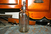 Antique Mutual Mineral Water Co. Glass Seltzer Bottle New York Clear Bottle