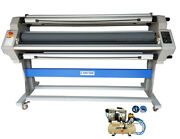 New 1630mm 64 Automatic Hot Cold Roll Laminator Pneumatic+slitting Max 960m2/hr