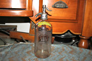Antique Country Club Bottling Company Perth Amboy Nj Clear Seltzer Bottle