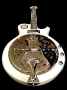 Great Playing New White 6 String Acoustic/electric Resonator Guitar
