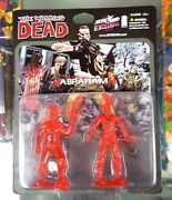 The Walking Dead Skybound Sdcc Exclusive Abraham Clear Red 2 Pack New Sealed