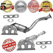 Front And Rear Catalytic Converter Fits Bmw 525i 530i 2004-2005