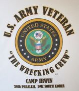 Camp Irwin The Wrecking Crew 38th Parallel Dmz South Koreaarmy Shirt/sweat