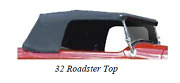 Ford Roadster / Roadster Pickup Convertible Custom Canvas Top Assembly 1928-1932