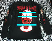 Cof Shirt Xl Tearing Off The Face Of U.s. And Canada Concert Rare Cradle Of Filth