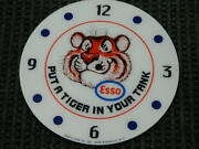 New 14.25 Esso Tiger Glass Replacement Clock Face For Pam Man Cave