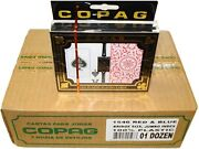 1 Case Copag 1546 Red And Blue Jumbo Bridge Plastic Playing Cards New Ship Free