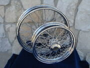 21 X 3.5 And 16x3.5 60 Spoke Dna Wheel Set 2000-06 Harley Heritage Fatboy Deluxe