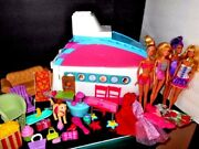 Barbie Party Cruise Ship Huge Lot Of Accessories Plus 4 Barbie Dolls And Clothes