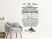 Disney In This House Wall Decals Family Lettering Hakuna Matata Phrase Decor Nv1