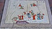 Antique 19c Chinese Forbidden Stiches Immortals On Landscape Silk Embroidery 49