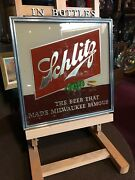 1940and039s Schlitz Beer Reverse Glass Sign Watch Video