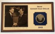 2003-s Proof Kennedy Half Dollar Enclosed In Capsule With Special Holder