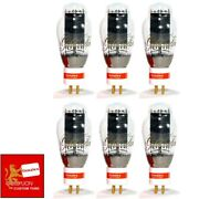 New Genalex Reissue 300b / Px300b Gold Pin Matched Sextet 6 Vacuum Tubes