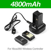 2pcs Rechargeable Battery Pack And Charging Dock For Xbox 360 Wireless Controller