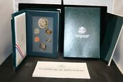 1990 Us Mint Prestige Proof Set With Silver Dollar And Coa In Original Box