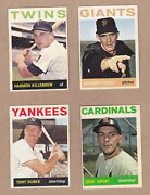 1964 Topps Baseball Cards - Lot Of 100 Different Including Killebrew And Perry
