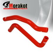 Toyota Celica Gt4 3sgte 94-99 3 Ply Nylon Silicone Radiator Hose Pipe Kit Red