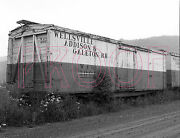 Wellsville, Addison And Galeton Wag Boxcar 4001 - 8x10 Photo