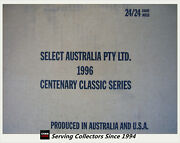 1996 Select Afl Classic Metal Trading Card Factory Case 24 Boxes X 24 Packs