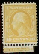 Us 338var 10andcent Yellow Andldquochina Clayandrdquo Paper Nh Pf Certificate Rare Stamp