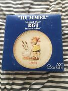 1974 Hummel Annual Collector's Plate Goose Girl