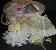 Bisque Bye-lo Baby - W/ Old Basket And Clothes And Accessories - 5 - Grace S Putnam