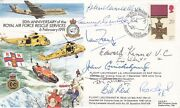 Ac48d 50th Anniv Royal Air Force Rescue Reserve Signed 9 Victoria Cross Holders