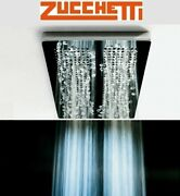 Zucchetti Z94151 Stainless Steel Multifunction Showerhead + R99636 Fixing Plate