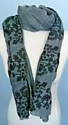 Big Sale Luxury Floral Scarf 100 Cotton Handmade Embroidered Flowers