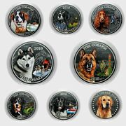 Set 8 Coins Breed Dogs 25 Rubles 2018 Russia