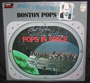 John Williams Vintage Autograph Pops In Space Bas Beckett Star Wars 1980 Signed