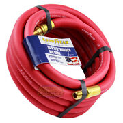 Goodyear Rubber Air Hose 15and039 Ft. X 3/8 In. 250 Psi Air Compressor Hose 12175