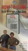 How-to-clinicvinyl Sidingvhs Movie-rare Vintage Collectible-ship N 24 Hours