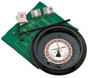 16 Deluxe Home Roulette Wheel Game Set Kit Roulete Spinning With Felt Layout
