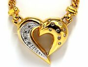 .25ct Natural Diamonds Heart Necklace 14kt Yellow Gold+