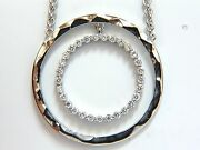 1.00ct. Diamonds Dangling Circle Within Circle By Yard Necklace 18kt+