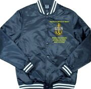Naval Air Station Sigonella-italy Navy Embroidered 1-sided Satin Jacket