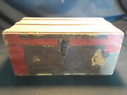 Vintage Antique Handmade Doll Clothes With Steamer Trunk