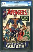 Avengers 28 Cgc 9.6 1966 1st Goliath White Collector Infinity Wars H4 104 Cm
