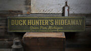 Duck Hunter Sign, Duck Hunter Gift -distressed Wooden Sign