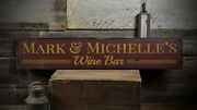 Custom Winery Wedding Wine Bar Sign -distressed Wooden Sign