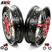 Kke 3.516.5/ 5.017 Supermoto Wheels Rims Fit Honda Crf250r 2013 Crf450r 2002