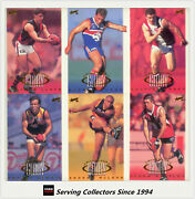 1998 Select Afl Trading Card Series Bound For Glory Cards Full Set 10 Cards