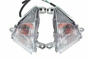 Front Turn Signals Clear Lens With Bulbs For Kawasaki 2006-2008 Ninja 650r