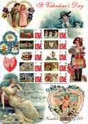 Bc-130 - St Valentines Day Smilers Stamp Sheet