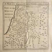 Holy Land C.1730 Engraved Map - The Kingdoms Of Judah And Israel By Emanuel Bowen