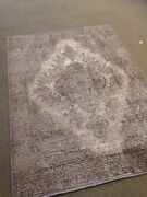 Authentic Old Persian Overdyed Area Rug 4' X 6' Oushak Faded Woven Distressed