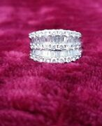14 K White Gold Gorgeous Dinner Ring. 1.96 Total Carats